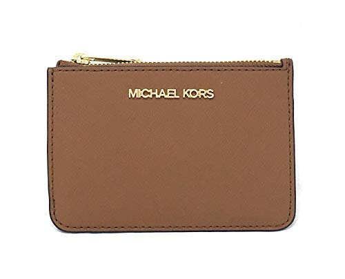 Michael Kors Jet Set Travel Small Top Zip Coin Pouch with ID Holder Saffiano...