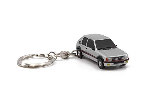 Z MODELS- Porte-Clé Peugeot 205 GTI Grey Coche en Miniatura de colección,...