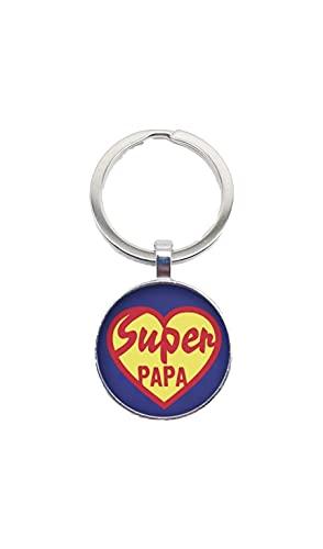 WAY2BB - Llavero especial para el Día del Padre Super Papa Corazón Talla...