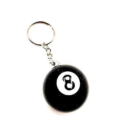 bola de billar . 8 . llavero deportivo hecho de mini bola de billar original...