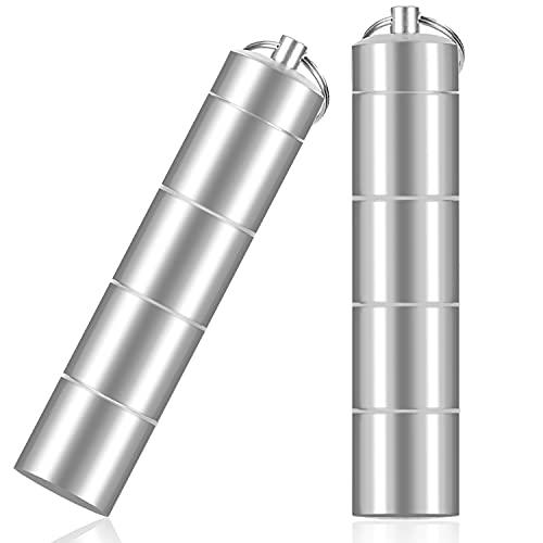 Pastillero Semanal de Aluminio Impermeable para 7 Días con llavero, Pastillero...