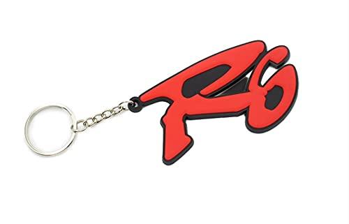 5665 Keychain - Llavero para moto Yamaha R6, color rojo, para hombre y mujer,...