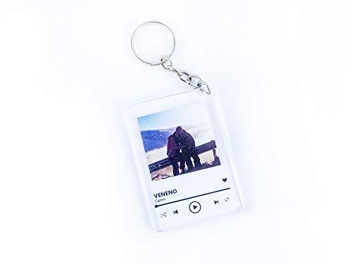 Oedim Pack 2 Llaveros Metacrilato Personalizado Spotify Música, Fabricado en...