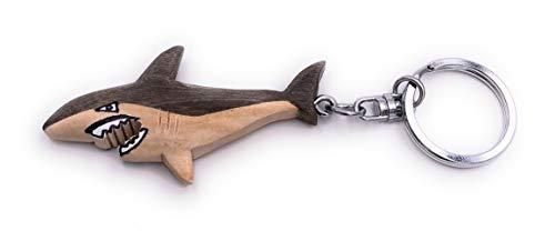 H-Customs Gran Colgante de Llavero Hecho a Mano Noble de Madera de tiburón...