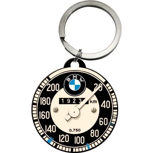 Nostalgic-Art 48016 - Llavero Redondo, Forma de tacómetro de BMW, 4 cm