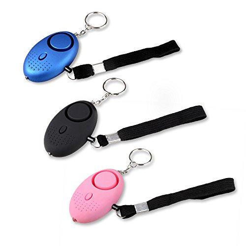 Schramm® 3 pcs Bolsillo Alarma de Pánico Autoprotección 130db Llavero...
