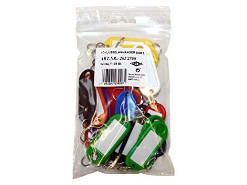 Wedo 2622599 - Pack de 25 llaveros en bolsa, Varios