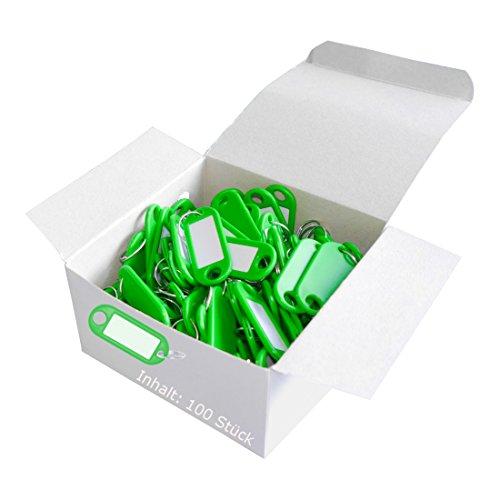 Wedo 262801804 Llavero con anillo de plástico, etiquetas intercambiables, 100...