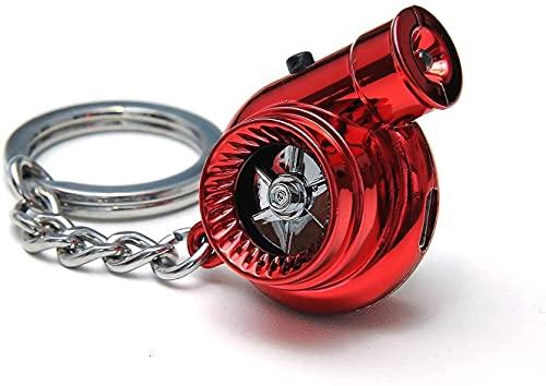 RWXCOW Llavero turbo recargable, con sonido USB/turbina giratoria de fuego, mini...