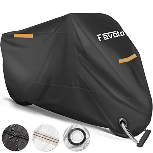 Favoto Funda para Moto Cubierta de la Motocicleta 210T Protectora Poliéster con...