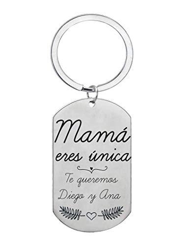Regalo Día de la Madre Llavero Personalizado Mamá