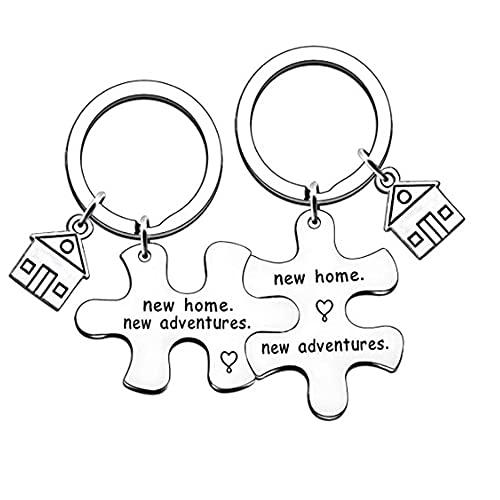 TOFBS Puzzle Partner Llavero Colgante Set Letters de aleación de acero...