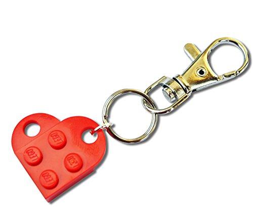 LEGO® - Llavero en forma de corazón, color rojo, para bodas, novias, San...
