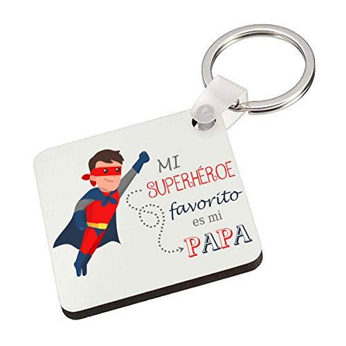 Kembilove Llavero del Mejor Padre de Superhéroe – Idea de regalo para el Día...