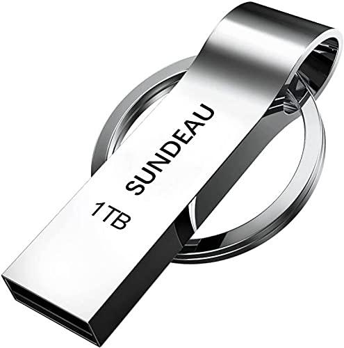 SUNDEAU Memoria USB de 1 TB, memoria USB, impermeable, de alta velocidad, con...