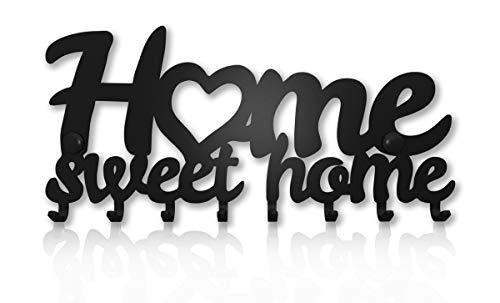 Colgador Llaves de Pared Home Sweet Home (8 Ganchos) Guardallaves Cuelga...