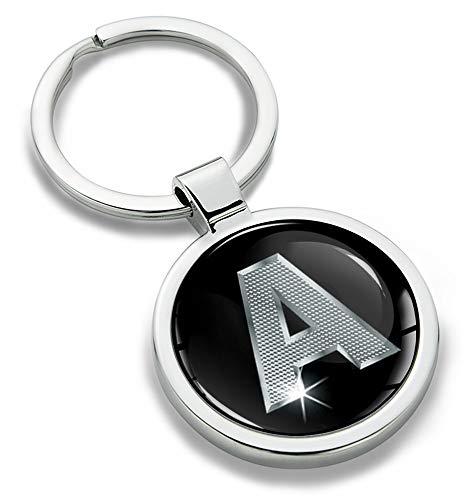 Biomar Labs® Llavero con Iniciales Personalizadas del Alfabeto de Metal en 3D,...
