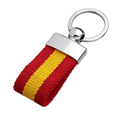 YOJAN PIEL | Llavero Lona | Bandera España | Diseño Discreto Y Elegante |...