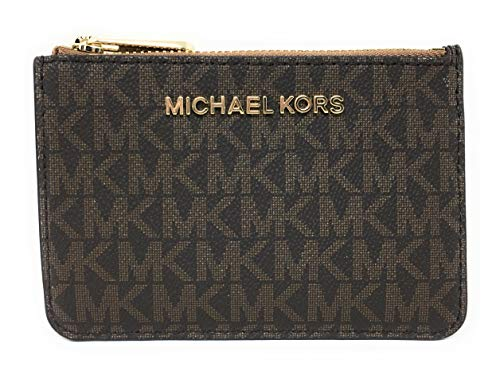 Michael Kors Jet Set Travel Small Top Zip Coin Pouch with ID Holder - PVC Coated...