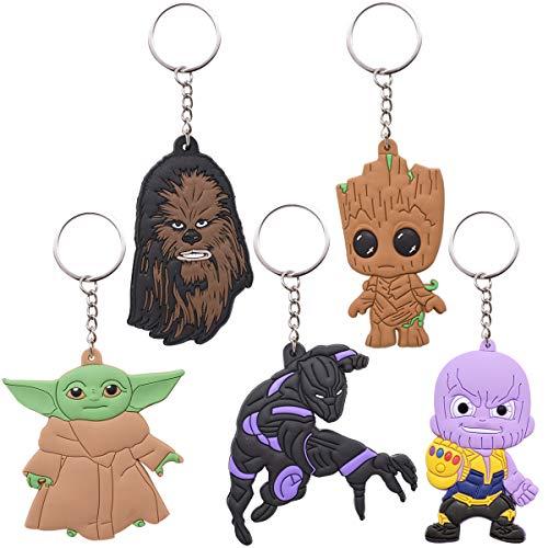 ZSWQ Conjunto de 5 Baby Yoda Keyring Llavero Star Wars Llavero Yoda...