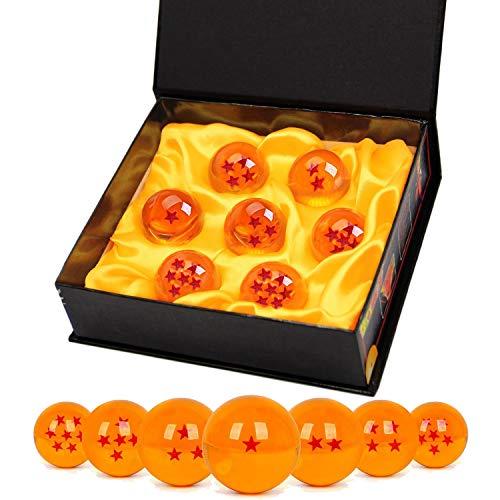 TATAFUN Bolas del Dragón, 7 PCS Dragon Ball Dragonball 1 a 7 Estrellas con Caja...