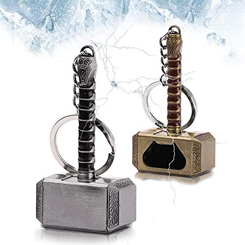 Thor Llavero Abrebotellas,2Pcs Thor Bottle Opener,Mini Llavero Martillo,el...