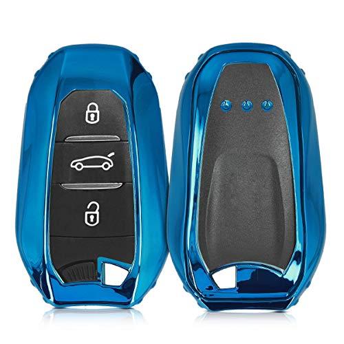 kwmobile Funda Compatible con Peugeot Citroen Llave de Coche Smartkey de 3...