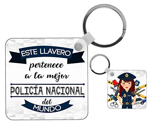 Kembilove Llavero de Policía Nacional – Este Llavero Pertenece a la Mejor...