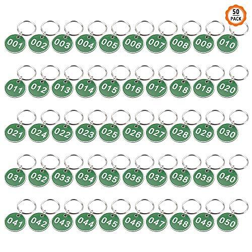 Yangfei Llavero Numero 1-50 Número de Identificación, Etiqueta de Número de...